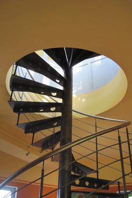Ebene 5: Aufgang vom Wohnzimmer zur Dachterrasse